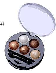 Cosmetics Makeup Pigment Eyeshadow 5 Colors Eye Shadow Powder Metallic Shimmer Warm Color