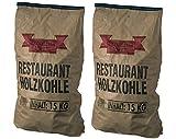 30kg Profi-Steakhouse-Grillkohle (2x 15kg) Quebracho Blanco & Viñal - Restaurant-Holzkohle mit extra langer Brenndauer - ideal für den Einsatz im Smoker