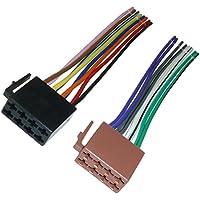 Adaptador de Universe DIN ISO adaptador Cable Altavoz Radio de coche 16Pin Negro