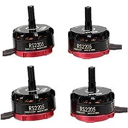 Crazepony-UK 4pcs EMAX RS2205 2300KV Brushless Motor 2CW 2CCW for QAV250 QAV300 FPV Racing Drone Quadcopter
