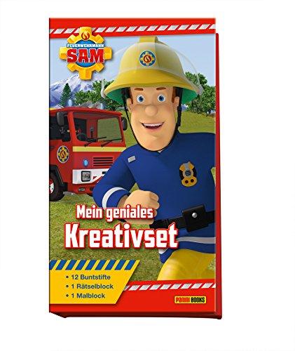 feuerwehrmann sam malbuch Feuerwehrmann Sam: Mein geniales Kreativset: Malblock, Rätselblock, 12 Buntstifte
