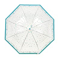 Womens/Ladies Transparent Butterfly/Bird Print Dome Walking Umbrella
