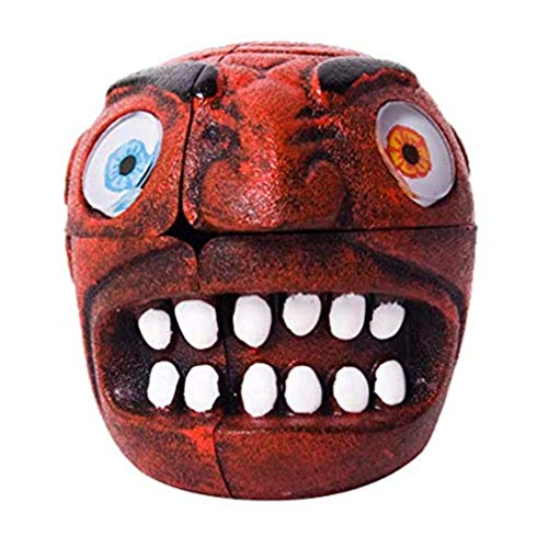Taoxia Cubes Halloween Monster Children es Toys Carni Red Devil Red Magic Toys Fancy Toys Special Shaped Toys (2x2, Red ()