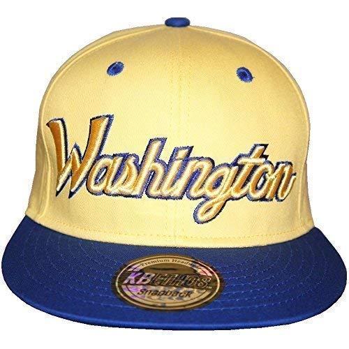 KB Ethos Washington Casquettes Snapback, Spectaculaire Bling Ajustée Visière Plate Hip Hop Unisexe Casquettes De Baseball