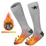 Beheizte Socken für Männer Frauen, EEIEER Elektrische Wiederaufladbare Batterien Socken für Weihnachten, Camping/Angeln/Radfahren/Motorradfahren/Skifahren