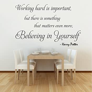 Working Hard Is Important (Harry Potter)   Wall Decal Quote Sticker Lounge  Kitchen Dining Room Hall (Small)