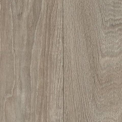 PVC CV Vinyl Bodenbelag Objektqualität Holzoptik Landhausdiele Eiche grau weiß 300 und 400 cm breit, verschiedene Längen, Variante: