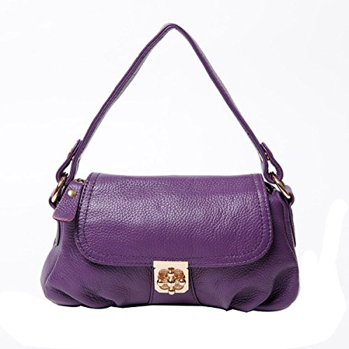 Coreano Piega Messenger Portable Retrò Signora Pack Purple