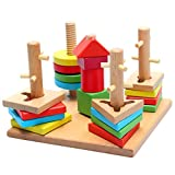 #3: Preschool Educational Multi Color Learning Wisdom Plate Puzzle Game Wooden Toy