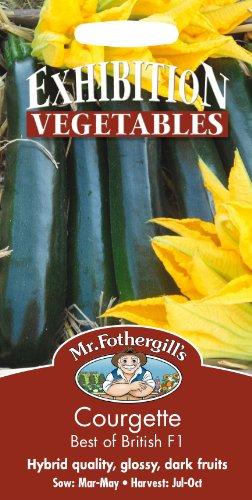 Mr Fothergills???Flux des paquets???L?gumes???courgettes???Best Of British F1?10?graines