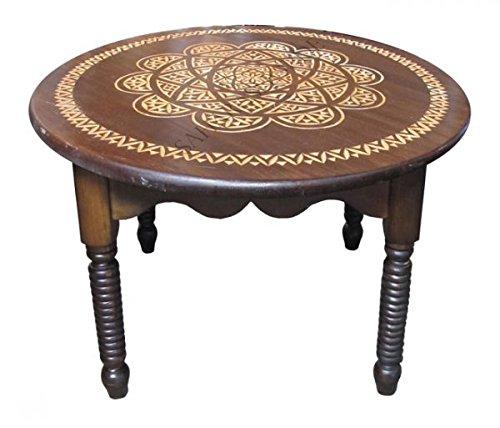 Saharashop Marocain Table à thé en Bois Nr,5 Ø 68 cm