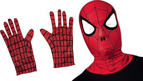 Marvel–i-32985–Kit Spider-Man Sturmhaube (Spider Man Handschuhe Kostüme Schwarzer)