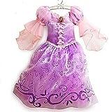 Rapunzel Kinder Kostüm Prinzessin Kleid Lila Pink Größe 2-9 Jahre