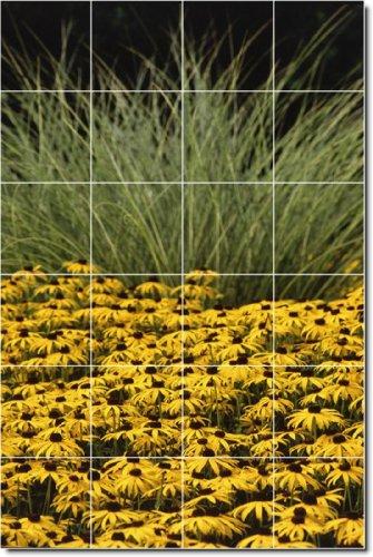 DUCHA MURAL FLORES FOTO DEL 27  32 X 121 92 CM CON (24) 8 X 8 AZULEJOS DE CERAMICA