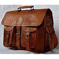 🎁 Handgefertigte Aktentasche Leder Umhängetasche Vintage Laptoptasche 15 Zoll Messengerbag für Laptop Crossbody aus echtem Leder | Mit Kostenlosem Versand