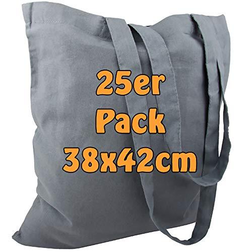 7aa372b40b Sac en coton jute Sacs vierges avec deux longues anses gris 38 x 42 cm Lot