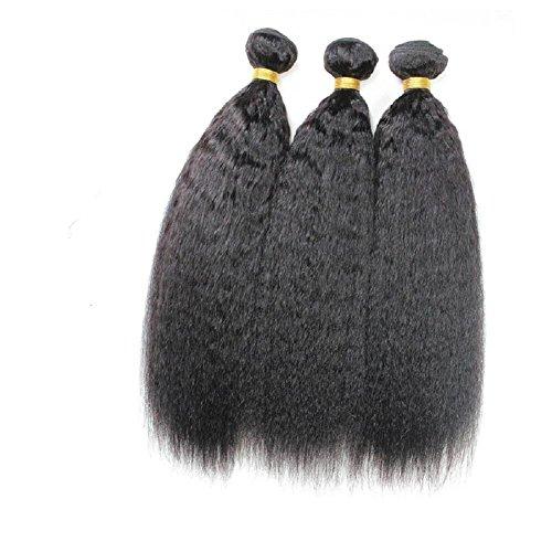 100% brasilianische Jungfrau Kinky geraden Menschenhaareinschlagfaden 1 Bundle Menschenhaar Weave Erweiterungen Natürliche schwarze Farbe , 30 inch (30-menschenhaar-erweiterungen)