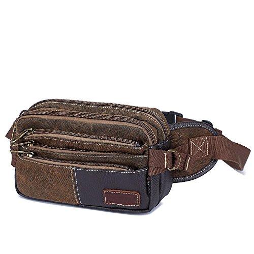 BUSL Escursione Fanny Pack di tela multi-sport borsa Messenger tasche sacchetto della cassa di spalla di svago esterno degli uomini . B B