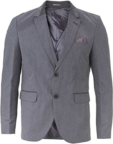 YAKE by S.O.H.O. NEW YORK Sakko Herren Slim Fit - Blazer Herren Sportlich Plymouth Grau_008