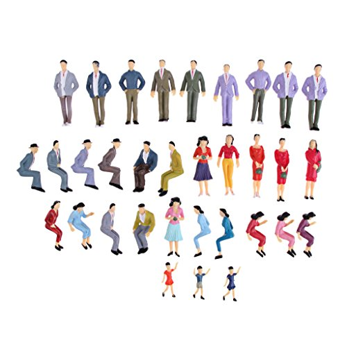 Baoblaze 1:25 Maßstab Gemalte Menschen Modell Figuren