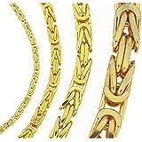 Königskette o. Königs-Armband Halskette Gold Doublé Goldkette Herren-Kette Damen Geschenk Schmuck ab Fabrik Italien tendenze