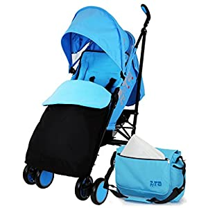 Zeta Citi Stroller Buggy Pushchair - Ocean (Complete With Footmuff + Bag + Raincover) by Baby Travel