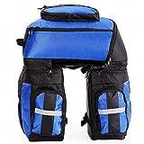 HYD Große Kapazität Reiten Wasserdichte Tasche 65L DREI-in-one abnehmbare reißfeste verschleißfeste Mountainbike Rücksitz Gepäcktasche Reiten Ausrüstung zu senden Regen Abdeckung (Blau)