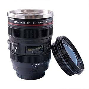 Mug objectif original et magique Thermos café en forme d'objectif photo en acier inox Lot de 1 Vente par FUNLAVIE