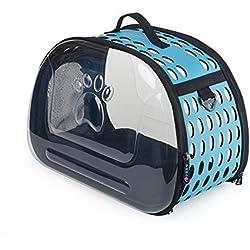 bolsos para perros Se puede plegar de la bolsa portátil para mascotas Bolso transparente de mascotas de párrafo Bolsa de gato Perro Mochila para mascotas , 4
