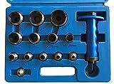 Henkellocheisen Satz 14-tlg. 5-35 mm Locheisen Satz Set Stanzeisen Lochstanzer Lochwerkzeug Stanz Werkzeug