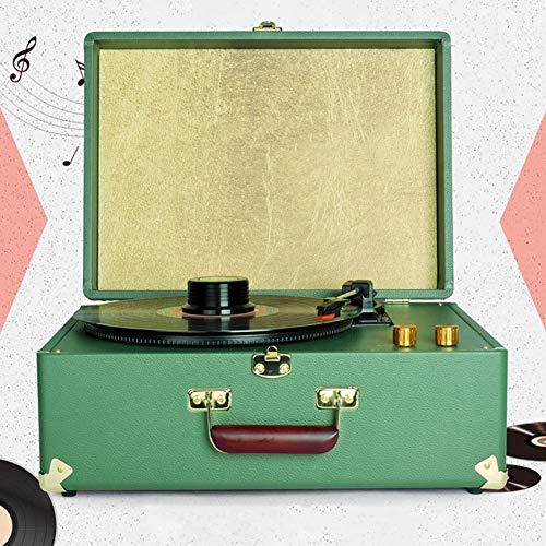 AJJA Máquina Tocadiscos De Vinilo LP Verde Moderna Canto ...