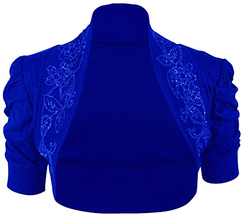 Chocolate Pickle ® Femmes Plus Size Sequin perles Bolero Cardigan Tops 36-54 Rouched Royal Blue