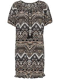 TopsandDresses Ladies Tunic Dress in Blue, Brown or Black in Women's UK Size 8 up to Plus Size 32
