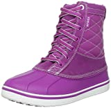 Crocs Allcast Leather Duck Boot W 12802-55S-520, Damen Stiefeletten, Violett (Viola/White), 43 EU / 9 UK