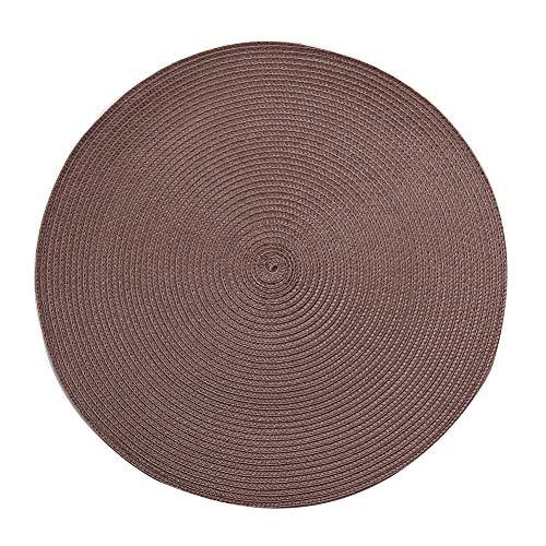 Blatt-wein-untersetzer (osmanthusFrag Tischset, rund, Teppich, isolierend, japanisch, hochwertige Tischdecke Beige Café)