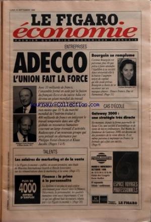 figaro-economique-le-du-23-09-1996-adecco-lunion-fait-la-force-ph-foriel-destezet-et-klaus-jacobs-co