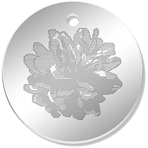 11 x 34mm 'Pixel Pinecone' Mirror Pendants / Charms (PN00026960)