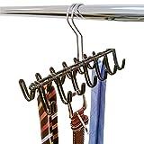 ArtMoon Shiva Krawatte Kleiderbügel 14 Haken Chrom Stahl Schwarz 26.5X10X17cm
