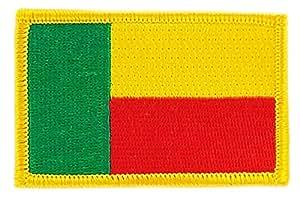 Patch écusson brodé drapeau benin flag thermocollant insigne backpack