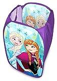 Ragusa-Trade Walt Disney Frozen - Die Eiskönigin ELSA Anna (1063) Pop-up Wäschekorb Aufbewahrungskorb Spielzeugkorb, 58 x 36 x 36 cm, blau/lila