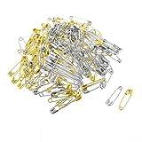 Coiled Design Metall Sicherheit Befestigungsstifte 125 PC versilbern Ton