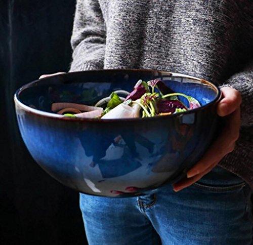 Salade de fruits Bol de salade de fruits de style japonais créatif bol grand bol à soupe maison bol en céramique plats Assiette de salade