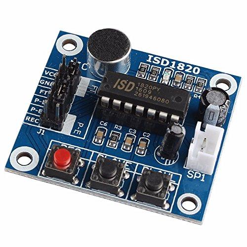 LIUXINDA-MK Sehr praktische ISD 1820 Audio Sound Voice Recording Playback Modul mit Mikrofon Sound Audio + Lautsprecher
