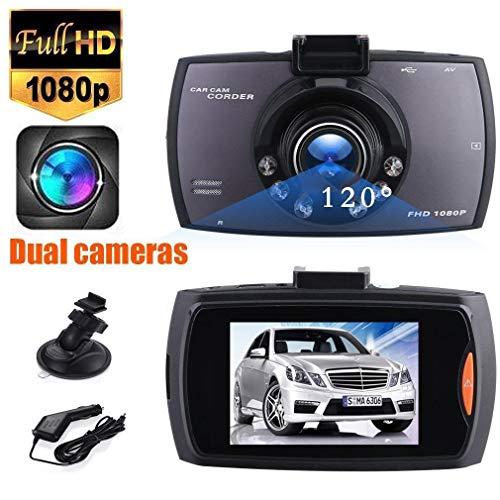 Dash Cam 1080P Full HD mit 6 IR LED Night Vision, Dashboard Camera Recorder mit High Sensitive G-Sensor Motion Detection/Parking Monitor/Loop Recording