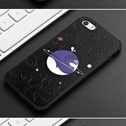 UKDANDANWEI Apple iPhone SE [QKS] TPU Souple Housse de Protection Case Téléphone Pour Apple iPhone SE - Style(02) Style(06)