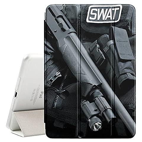 STPlus SWAT Gun And Gear Smart Cover With Back Case + Auto Sleep/Wake Funtion + Stand for Apple iPad Pro (12.9