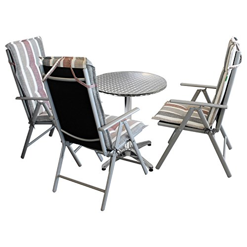 7tlg. Gartengarnitur Bistrogarnitur Campingmöbel Terrassenmöbel Set ...