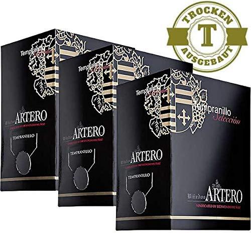 Rotwein Spanien Bag in Box Tempranillo Artero (3 x 5,0)