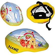 """Kinderhelm - Disney """" Winnie the Pooh """" - Gr. 52 - 56 - circa 3 bis 15 Jahre - incl. Name - für Kinder Mädchen & Jungen / Fahrradhelm größenverstellbar Schutz - Puuh der Bär Tigger - verstellbarer Helm"""