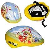 Unbekannt Kinderhelm - Disney  Winnie The Pooh  - Gr. 52 - 56 - Circa 3 bis 15 Jahre - incl. Namen - Verstellbarer Helm - für Kinder Mädchen & Jungen / Fahrradhelm gr..